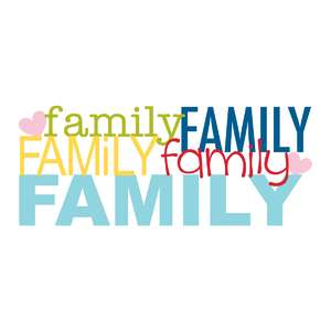 family word collage