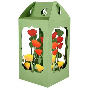 poppy filled lantern