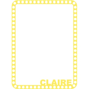 claire frame yellow