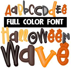 halloween wave color font