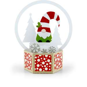 3d snow globe card gnome