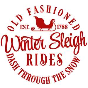 old fashion winter sleigh rides