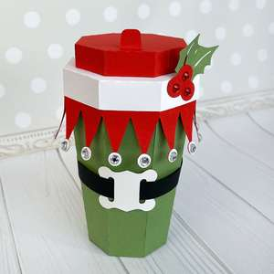 elf coffee cup box