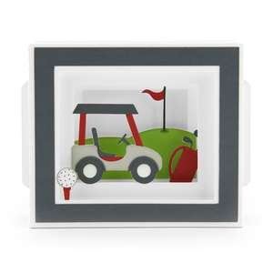 shadow box card golf cart