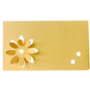 3d celandine flower place name card