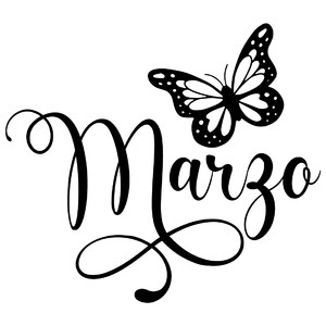 marzo butterfly word