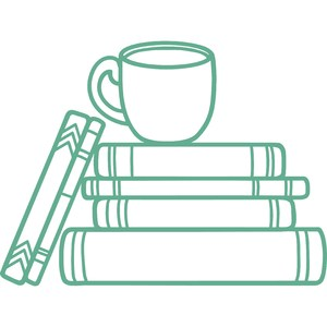 books with coffee cup