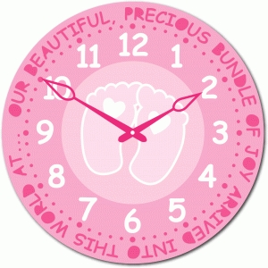 baby girl birth time clock