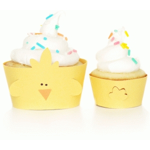 easter chick cupcake wrappers