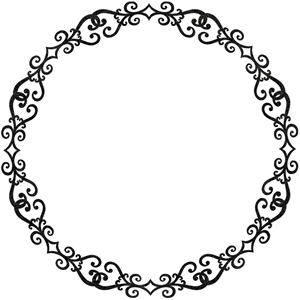 round lace frame