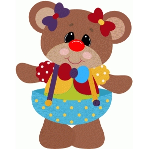 clown bear dress up halloween