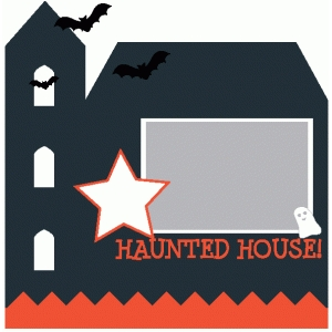 haunted house shaped 12x12