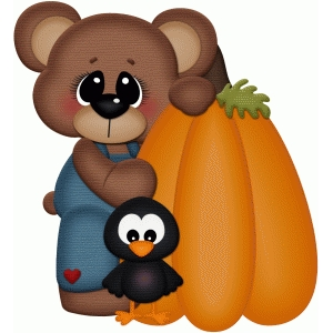 bear in overalls w pumpkin pnc