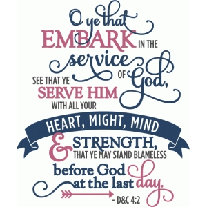 embark in the service of god (full) - phrase