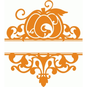 split pumpkin flourish damask