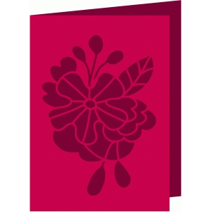 floral bloom foldover card