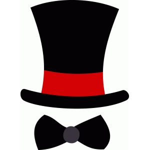top hat and bow tie