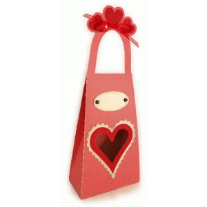 heart window tall valentine tote