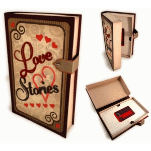 love stories 3d book gift card box