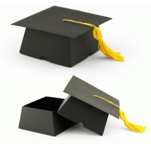 3d graduation cap box