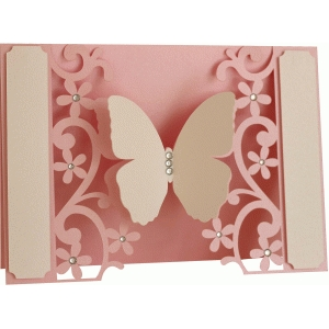 5x7 butterfly flourish card