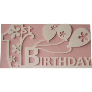 1st birthday layer card