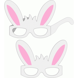 3d glasses boy bunny