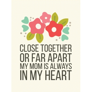 close together 3x4 quote card