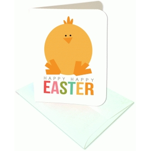happy happy easter a2 card