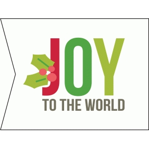 joy to the world 3c4 quote card