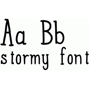 stormy font
