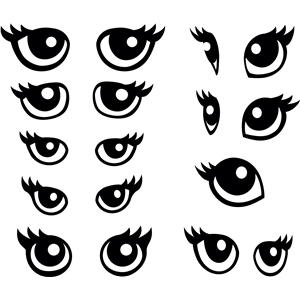 animal eyes single 1 piece per eye