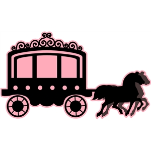 princess carriage with horses