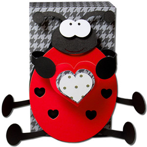 lady bug holding heart box