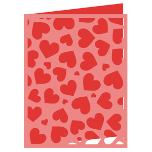 scattered hearts card