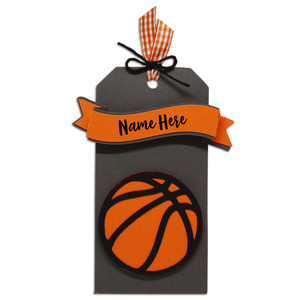 basketball gift tag