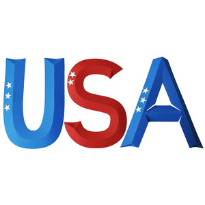 usa dimensional letters