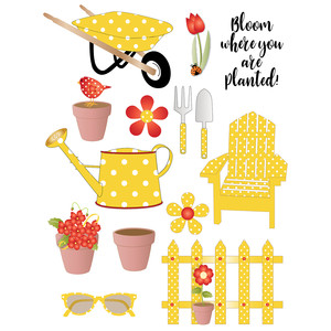 polka dot garden stickers