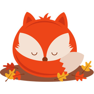 sleeping fall fox