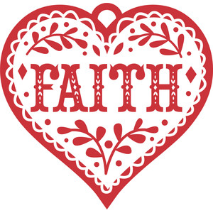 folklore heart faith ornament