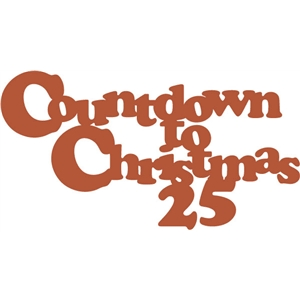 countdown to christmas phrase