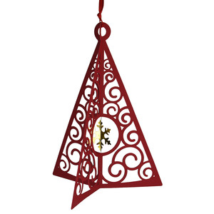 lacy christmas tree ornament