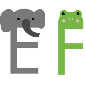 alphabet learning craft - e and f