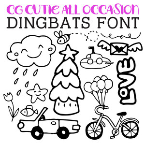 cg cutie all occasion dingbats