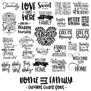 home and family font