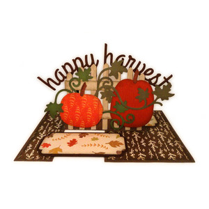 pumpkins with fence impossible card