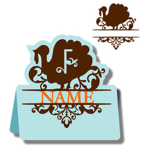 monogram place card & nameplate - turkey f