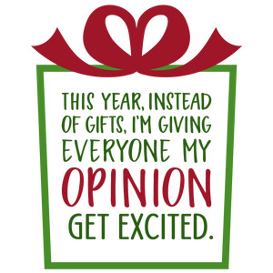 this year instead of giving gifts phrase