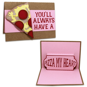pizza my heart pop-up card