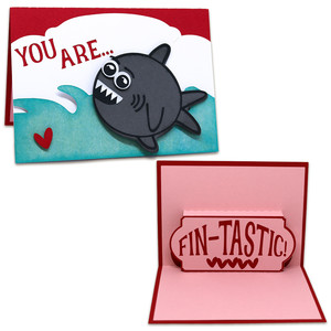 you are fin-tastic pop-up card